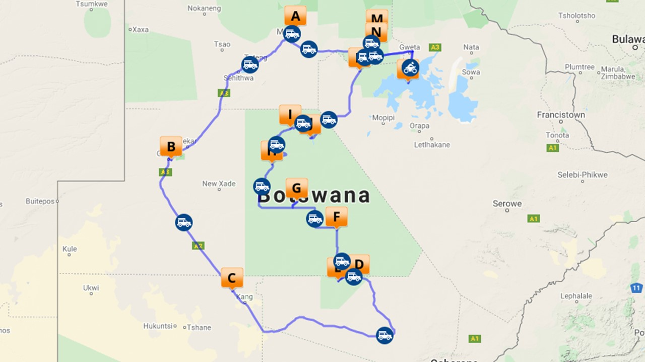 Central Kalahari safari - 18 dagen