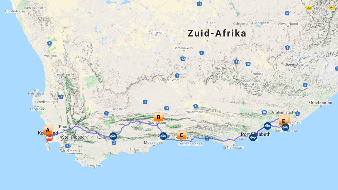 Garden Route Zuid Afrika - van Kaapstad naar Port Elizabeth - 10 dagen