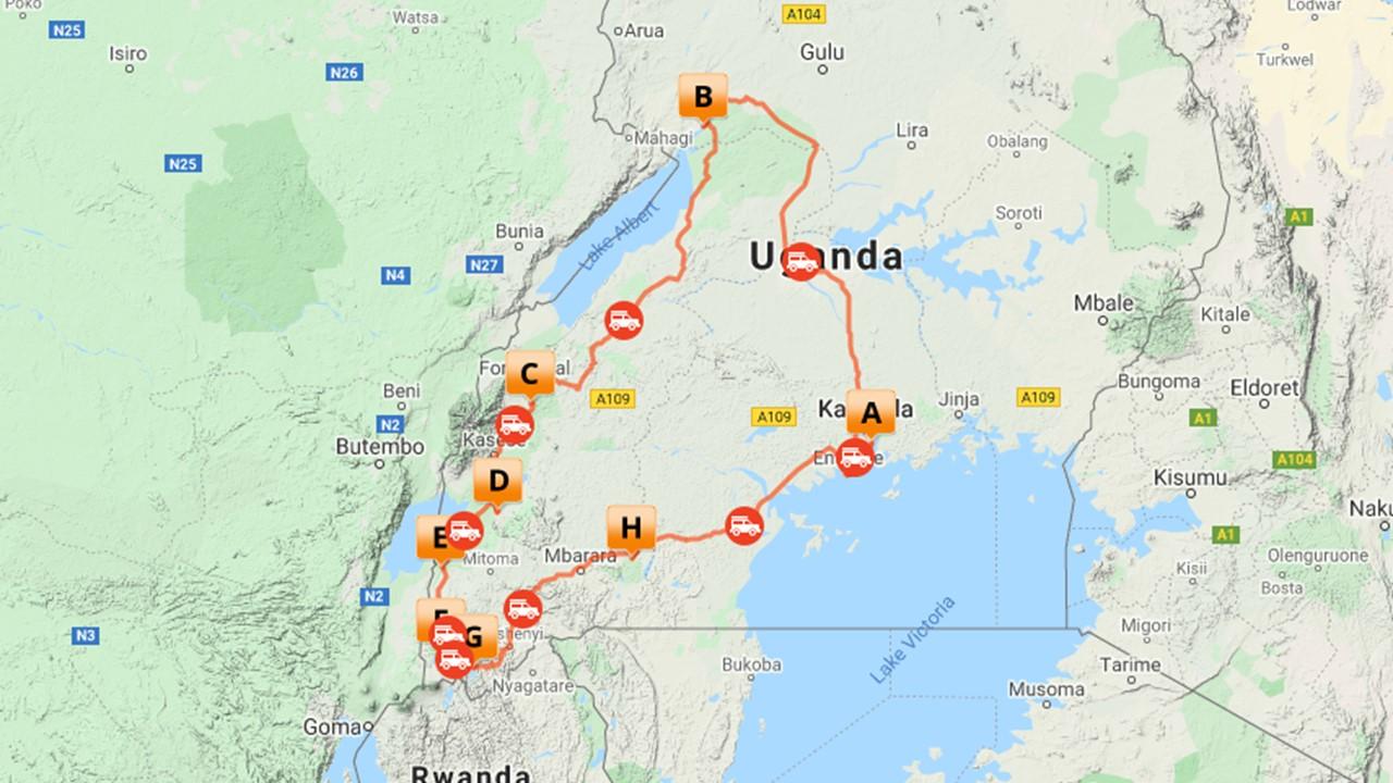 Klassieke reis Uganda - 12 dagen