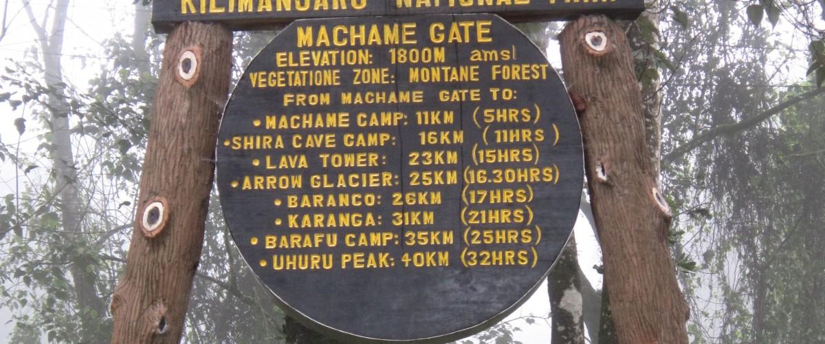 Machame Gate Mt Kilimanjaro Tanzania