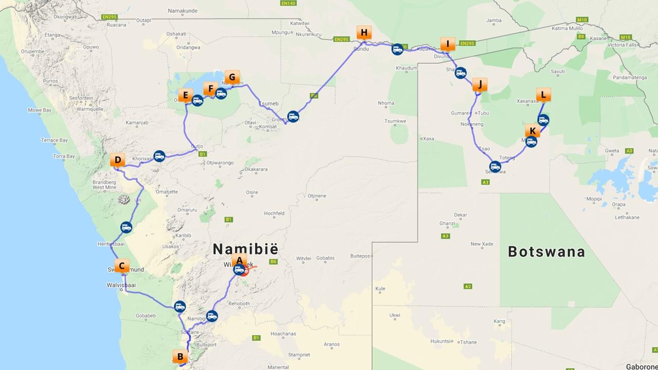 Namibië en Botswana selfdrive - 21 dagen