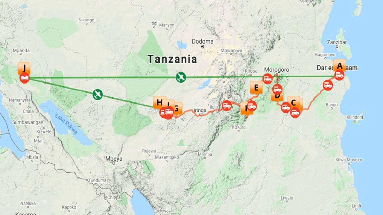Ongerept Tanzania safari - 20 dagen
