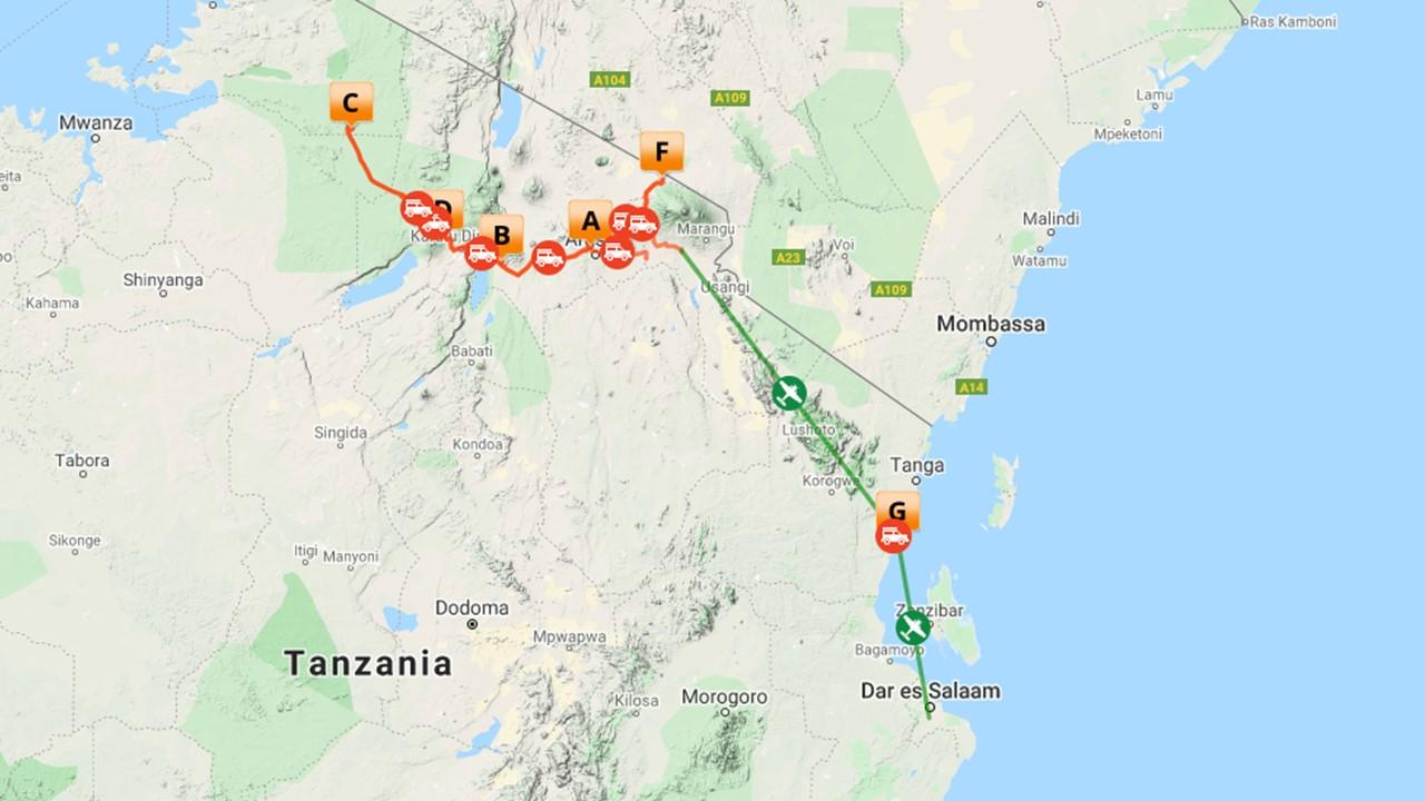 Rondreis Tanzania met gids - 15 dagen