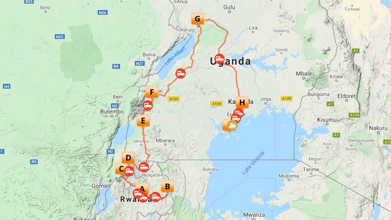 Rwanda Uganda safari - 17 dagen