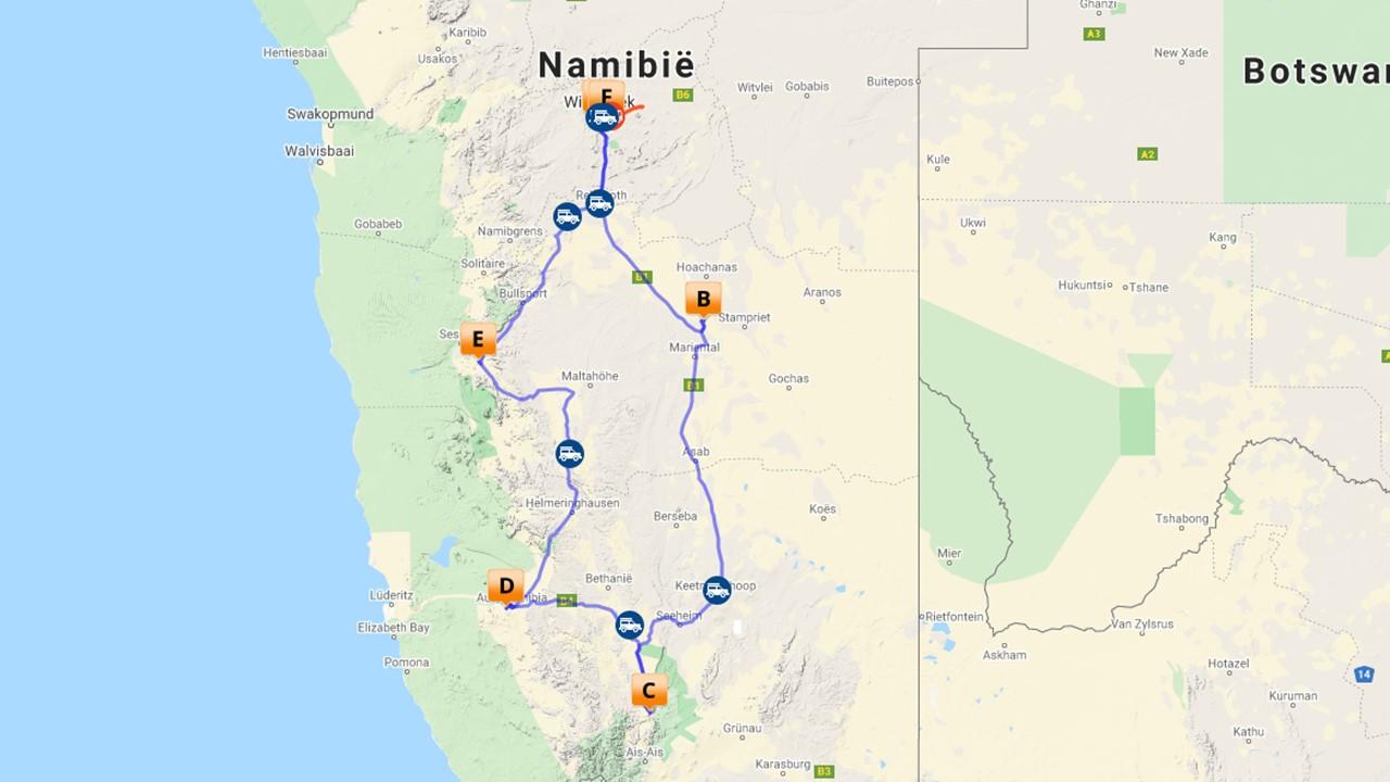 Selfdrive Namibie Zuid - 9 dagen
