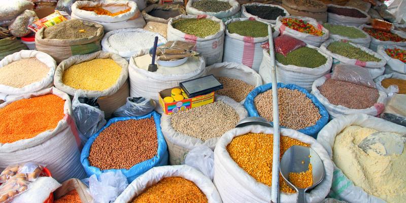 Specerijen markt in Kampala Uganda