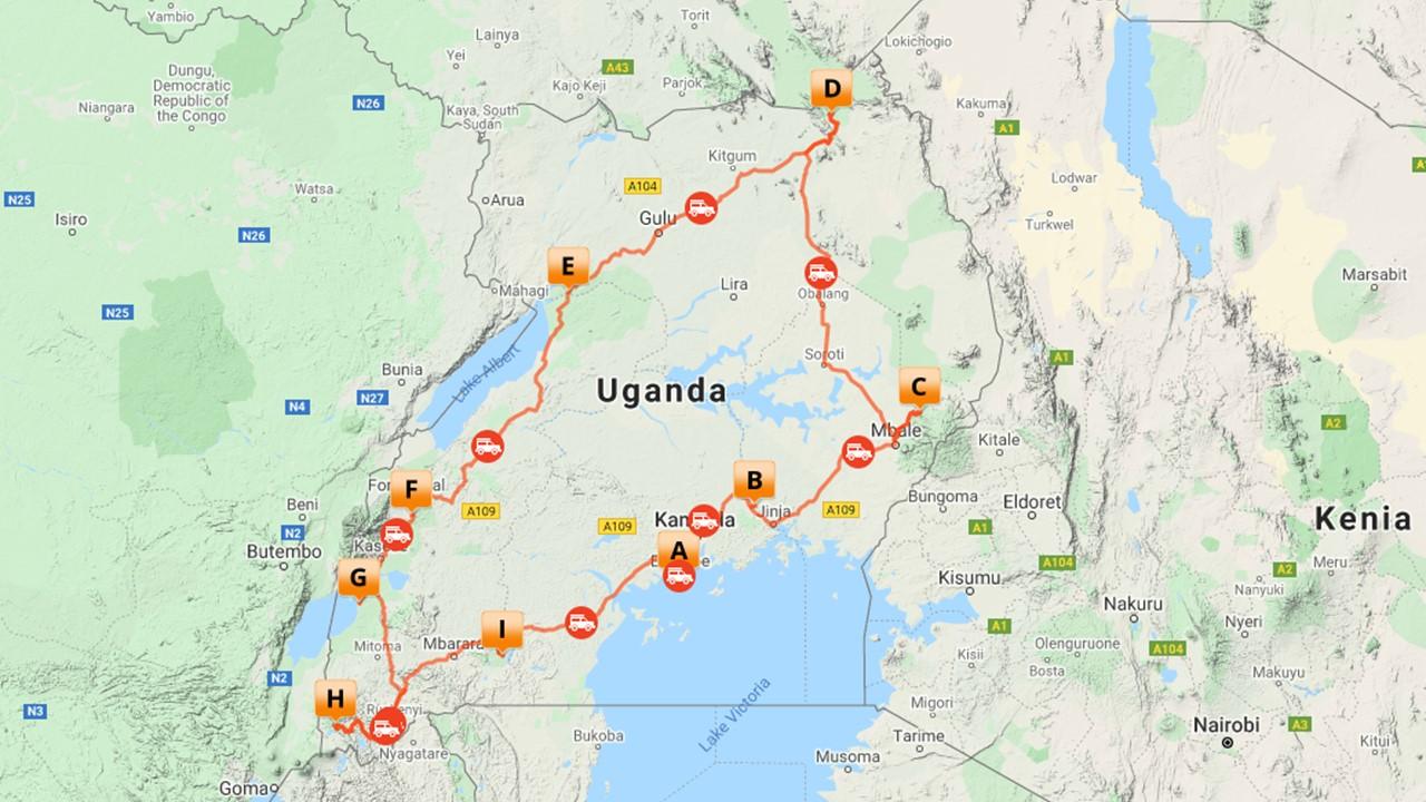 Uganda rondreis - 17 dagen