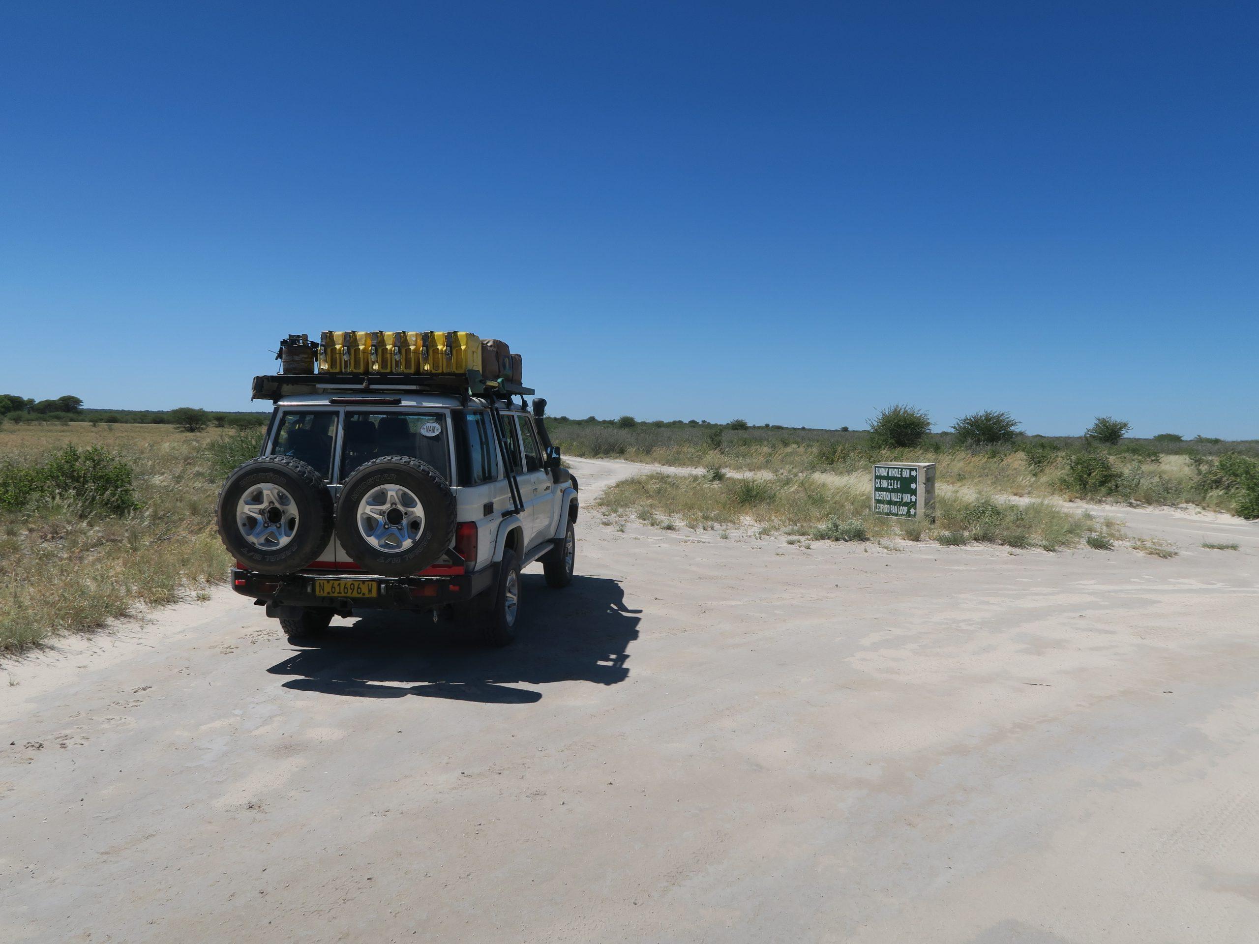 Uitgestrekte vlaktes van Central Kalahari Game Reserve Botswana