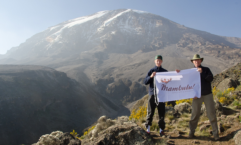 Uitzicht op Mt Kilimanjaro Tanzania