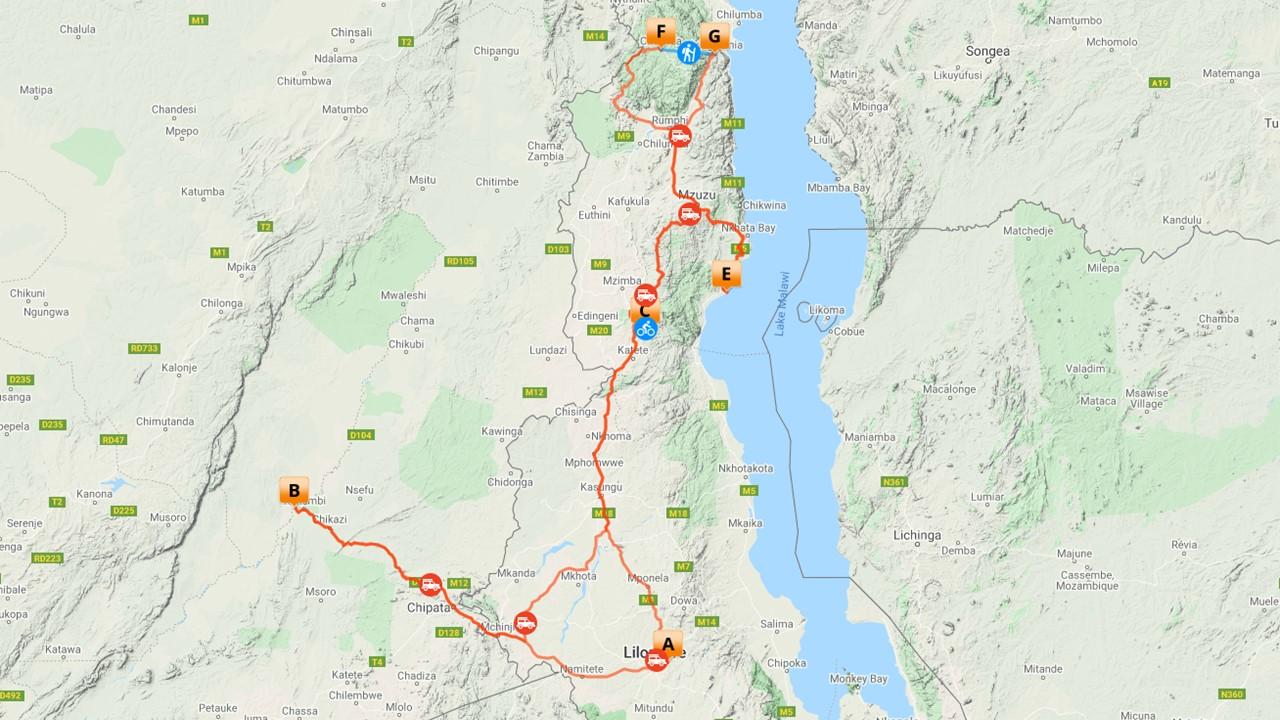 Actieve Malawi vakantie - 16 dagen