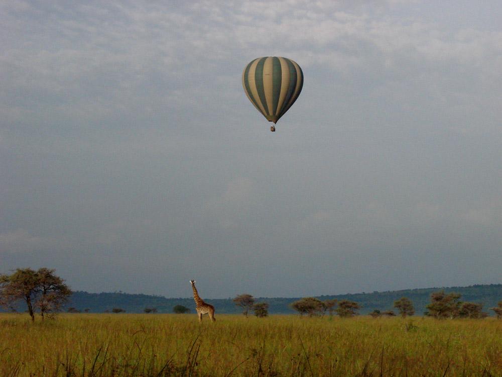 Ballonvaart, Serengeti, Tanzania