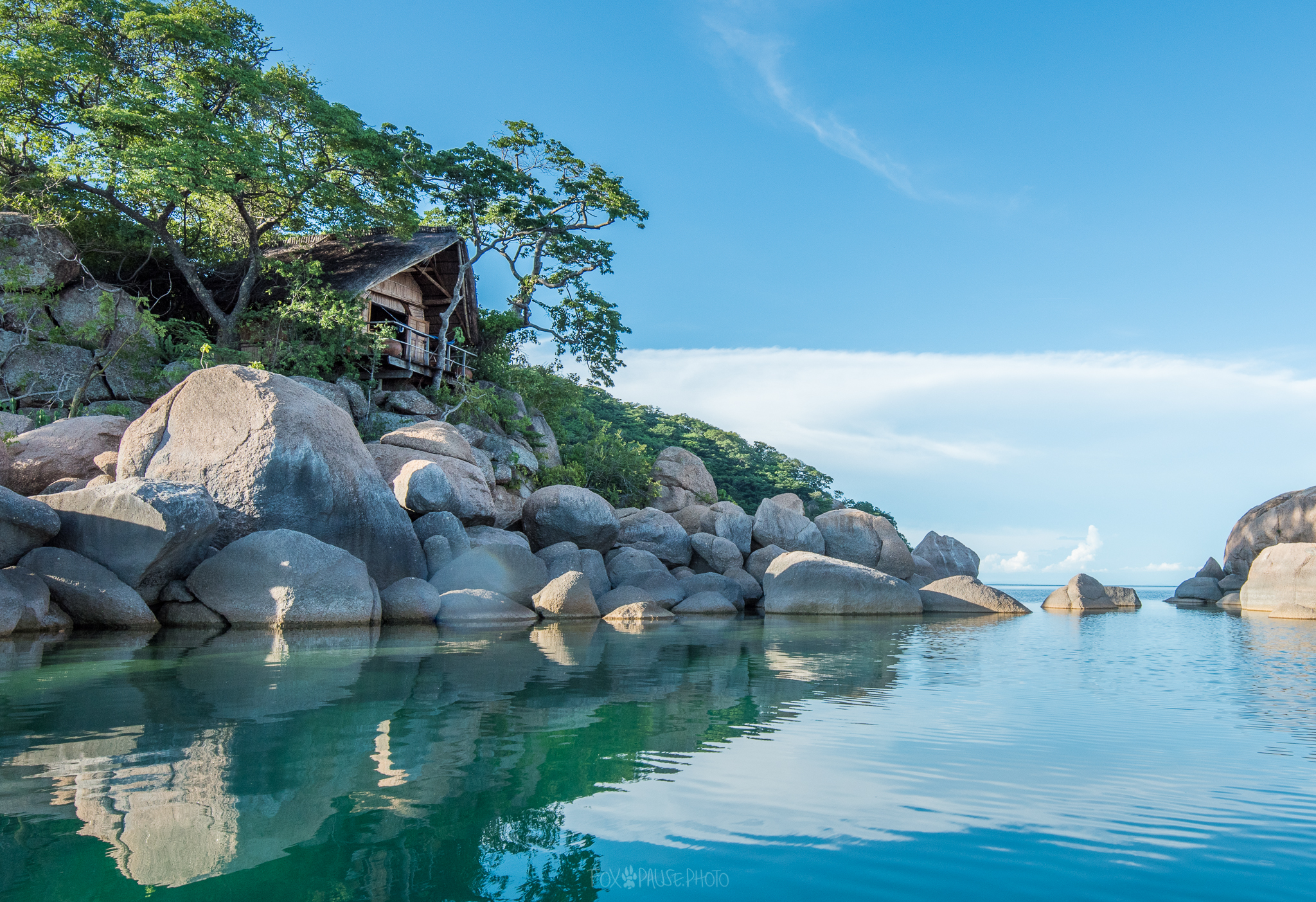 Chalet op Mumbo Islands Lake Malawi