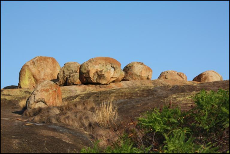 Granieten rotsen Matobo National Park Zimbabwe