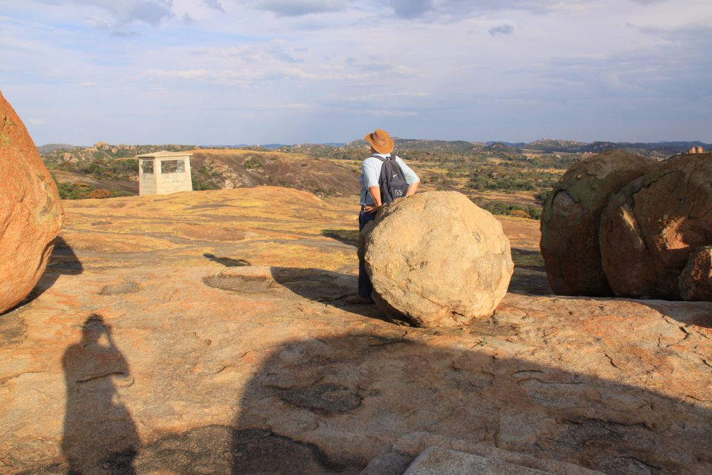 Granieten rotsen in Matobo National Park Zimbabwe