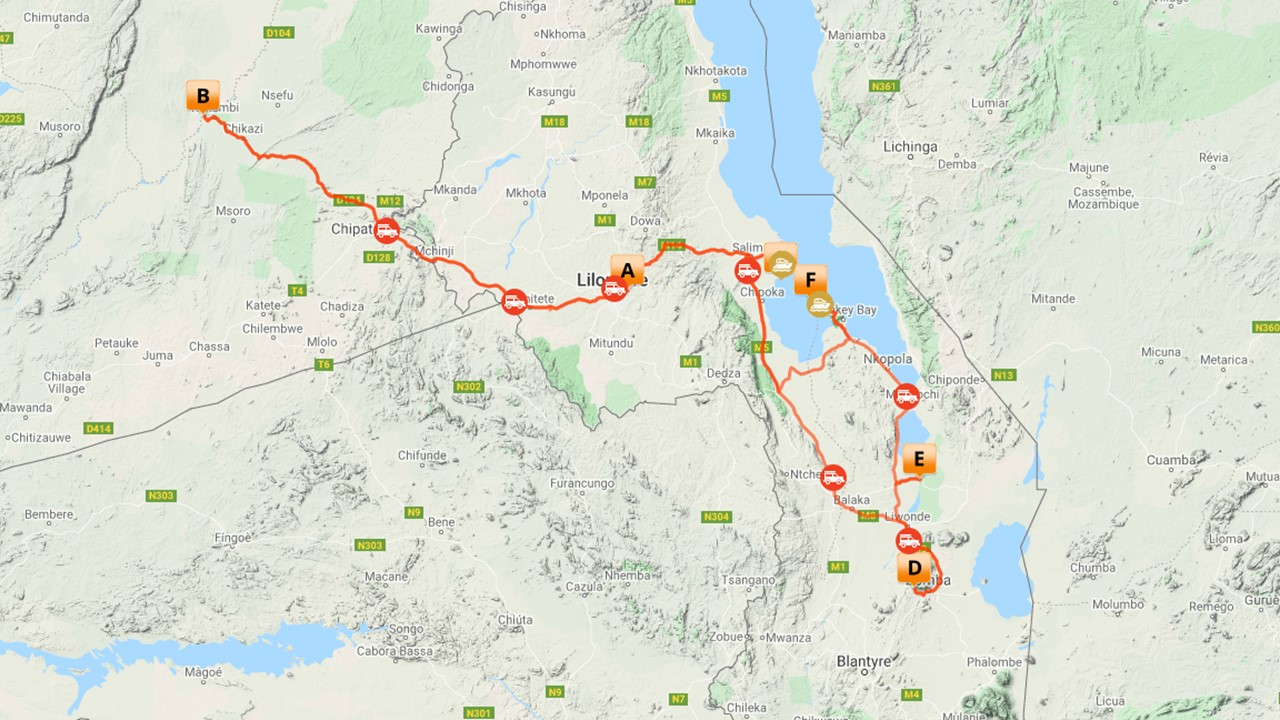 Groepsreis Malawi en Zambia - 16 dagen