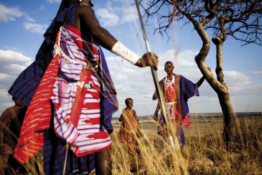 Maasai tribesmen Tarangire National Park, Tanzania