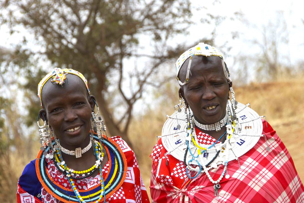 Maasai tribeswomen, Tarangire, Tanzania