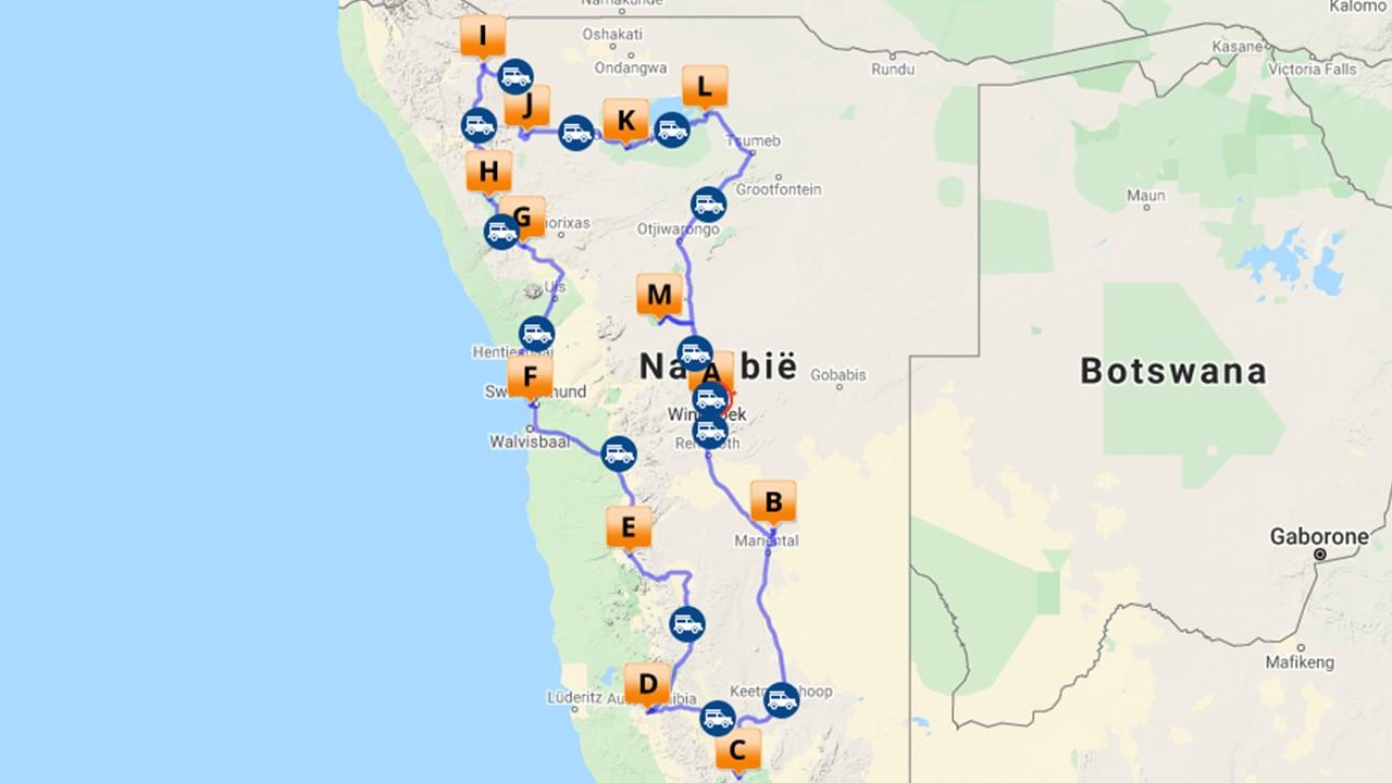 Namibie reis - 21 dagen