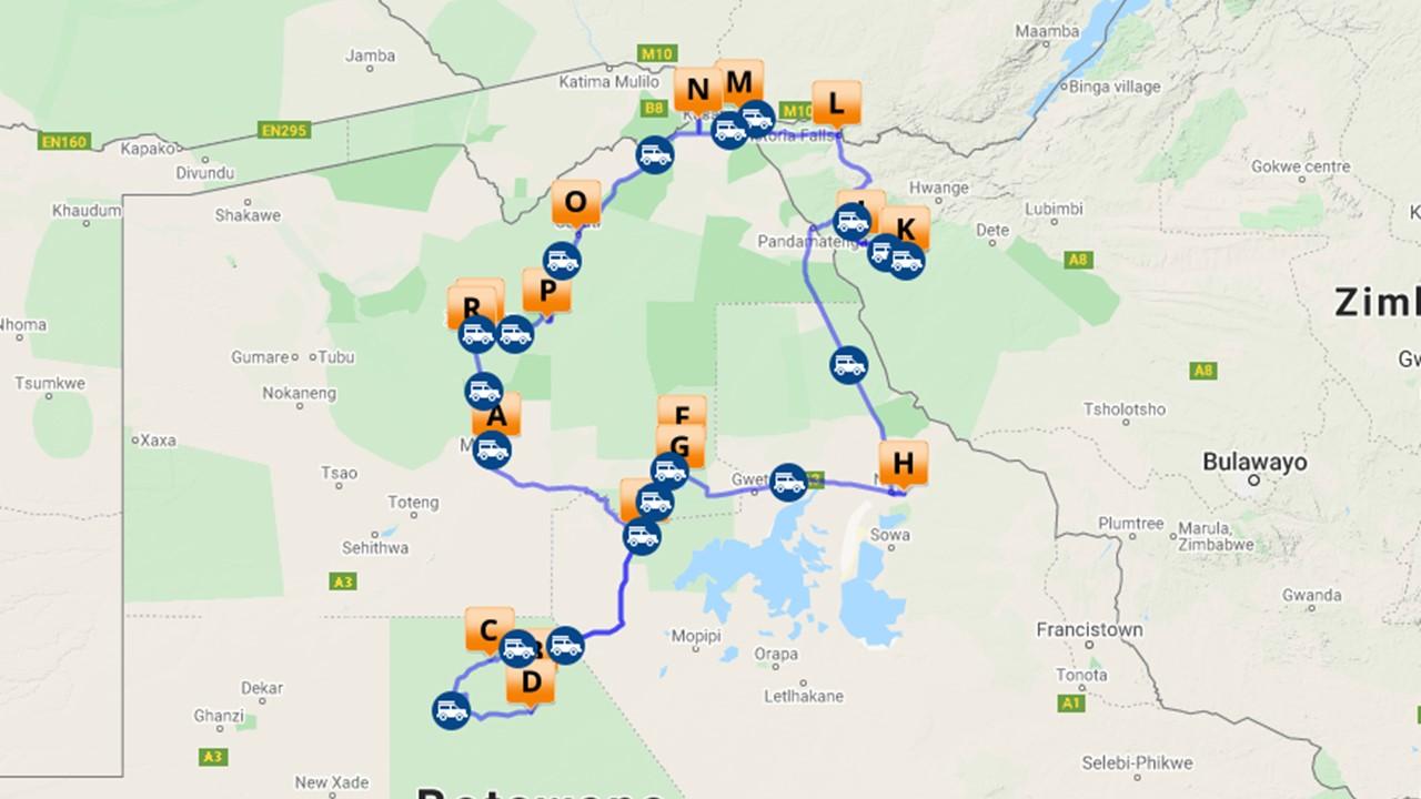 Selfdrive Botswana - 26 dagen