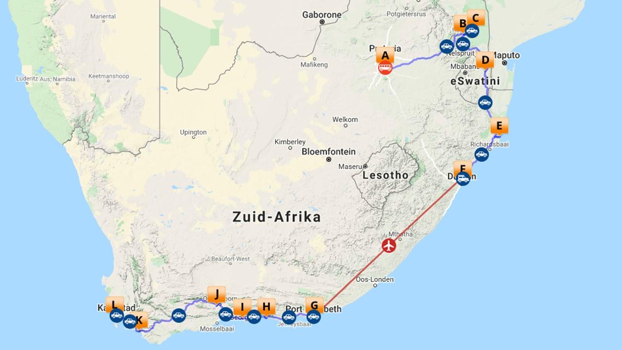 Selfdrive Zuid-Afrika - 21 dagen