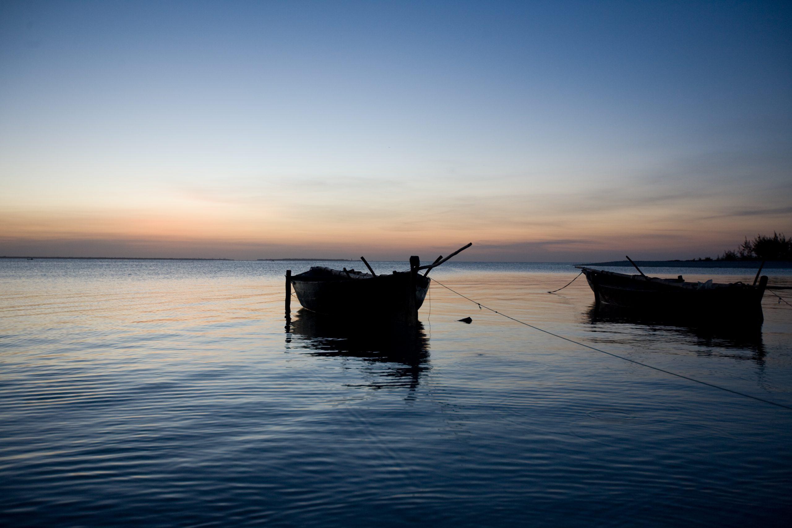 Sunset on the Indian Ocean, Zanzibar, Tanzania