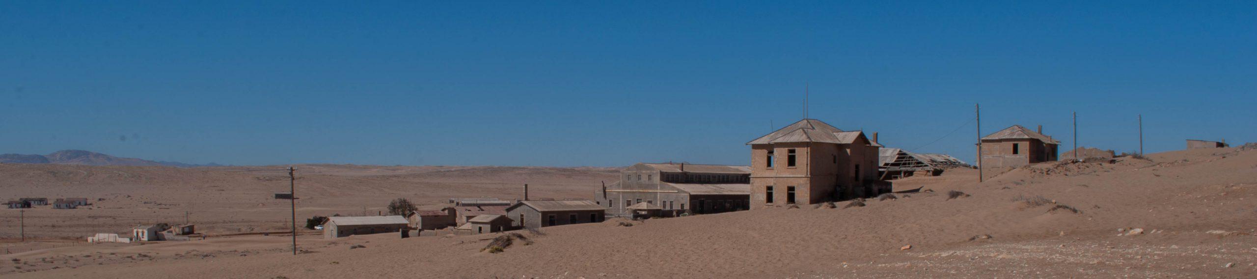 Verlaten stadje Kolmanskop Namibië