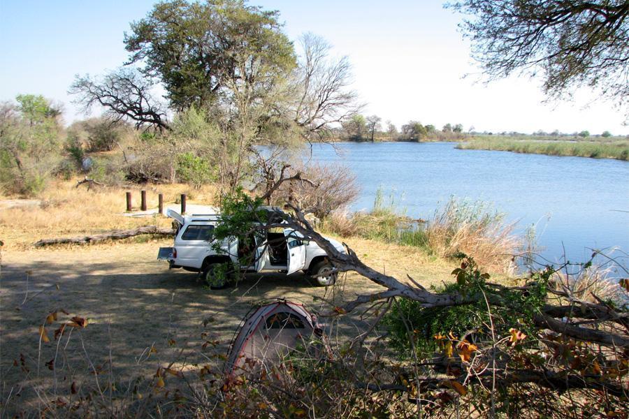 Campsite in Mudumu National Park Namibië
