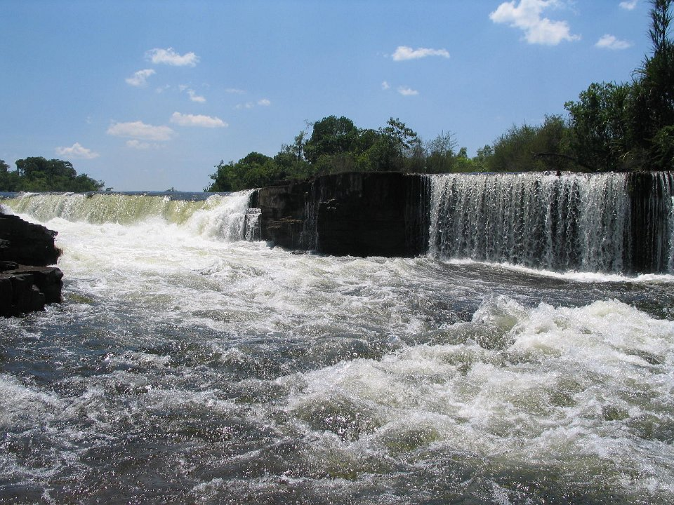 Chipembe Falls in noord Zambia