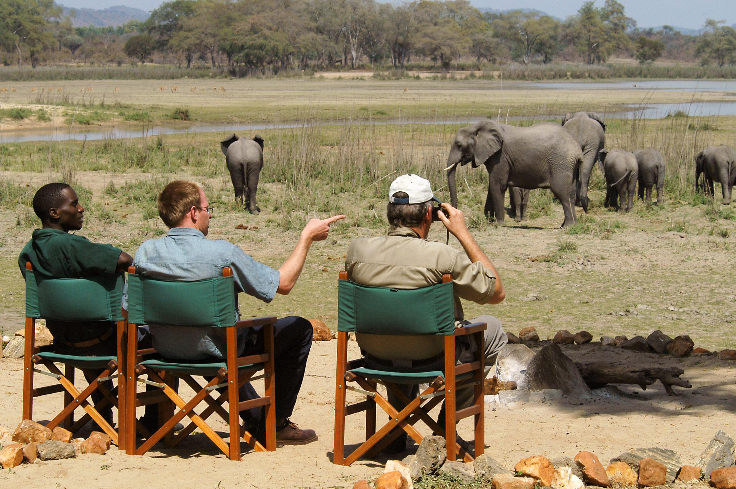Game viewing in Vwaza Marsh Wildlife Reserve Malawi