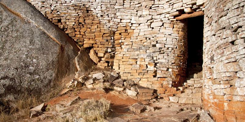 Goed bewaarde ruïnes van Great Zimbabwe