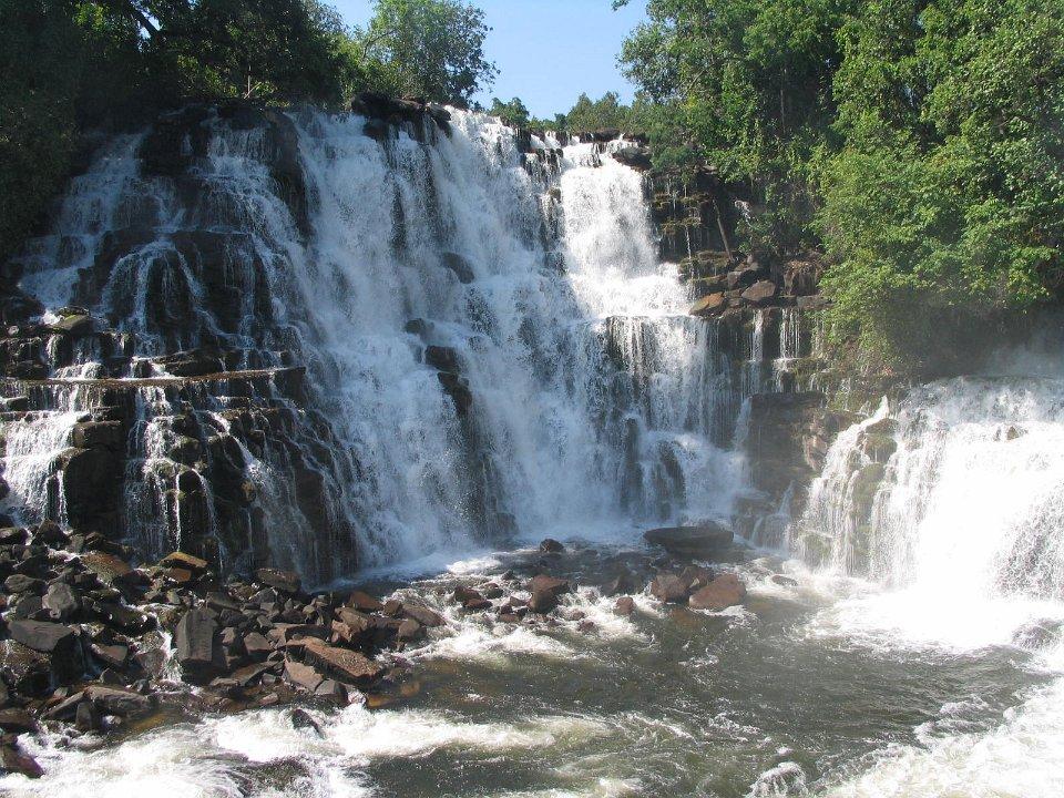 Kabwelume Falls noord Zambia