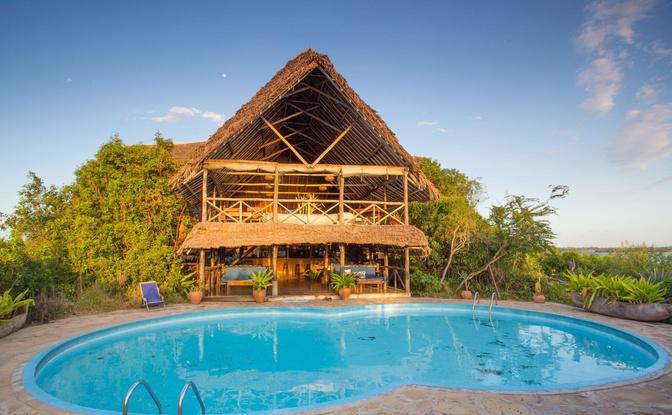 Lodge op Lazy Lagoon Island Tanzania