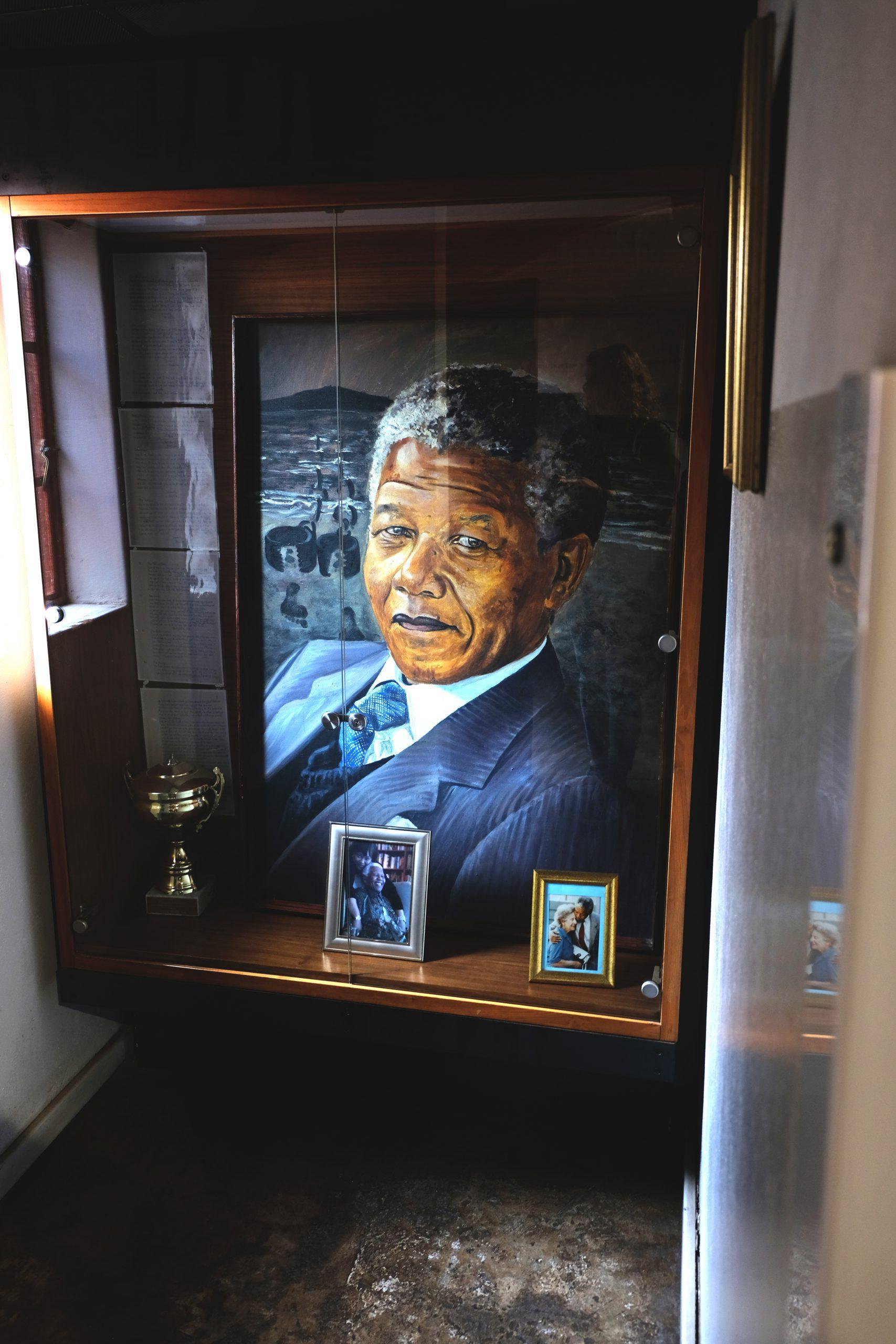 Nelson Mandela Portret, Mandela House, Soweto, Johannesburg
