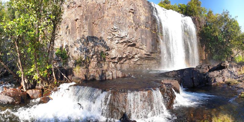 Ntumbachushi Falls rotsen Zambia (@Bruno Metsanen)