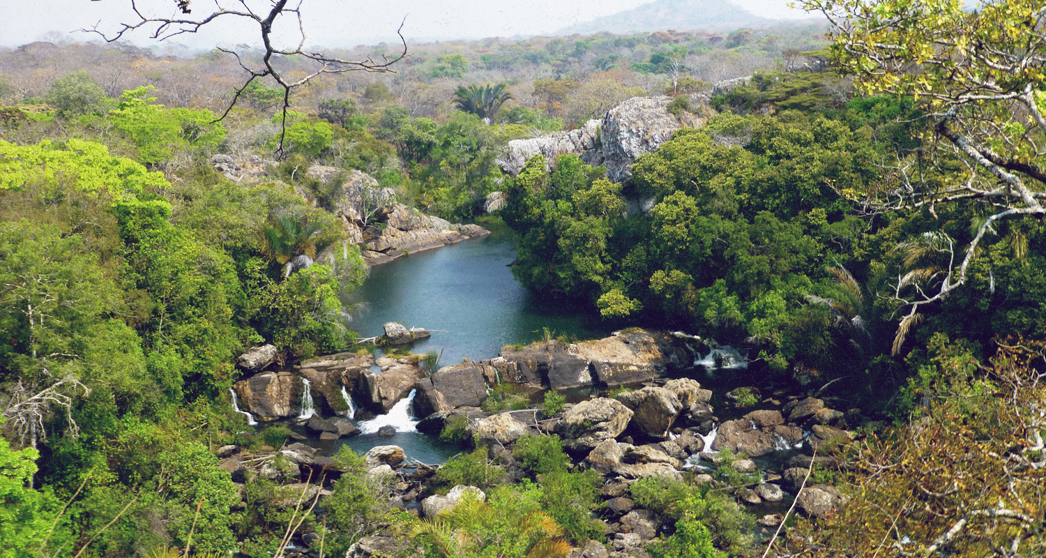 Rivier in Lavushi Manda National Park Zambia