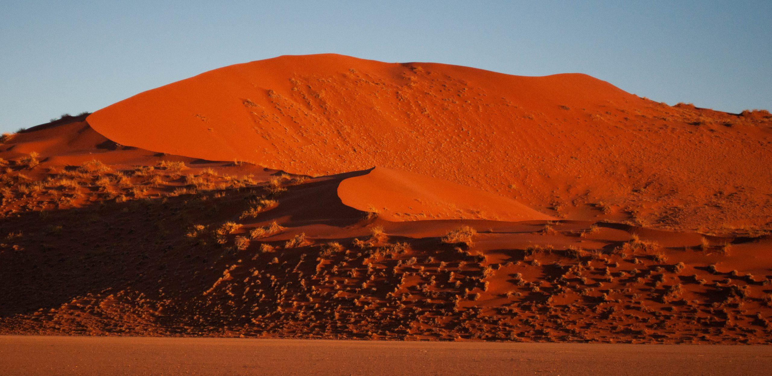 Sossusvlei rode zandduinen Namibië