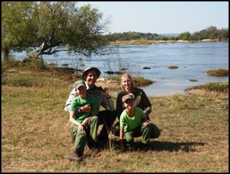 Wandelsafari in Mosi-oa-Tunya National Park Livingstone Zambia