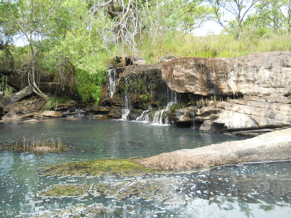 Waterval in Lavushi Manda National Park Zambia