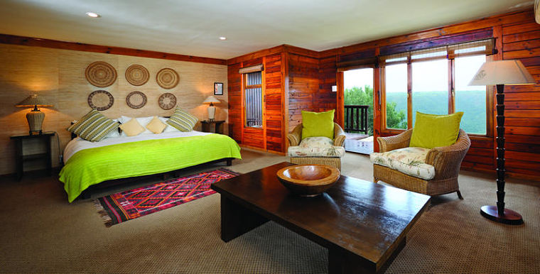 Luxe suite van Ukhozi Lodge in Kariega Game Reserve Zuid-Afrika