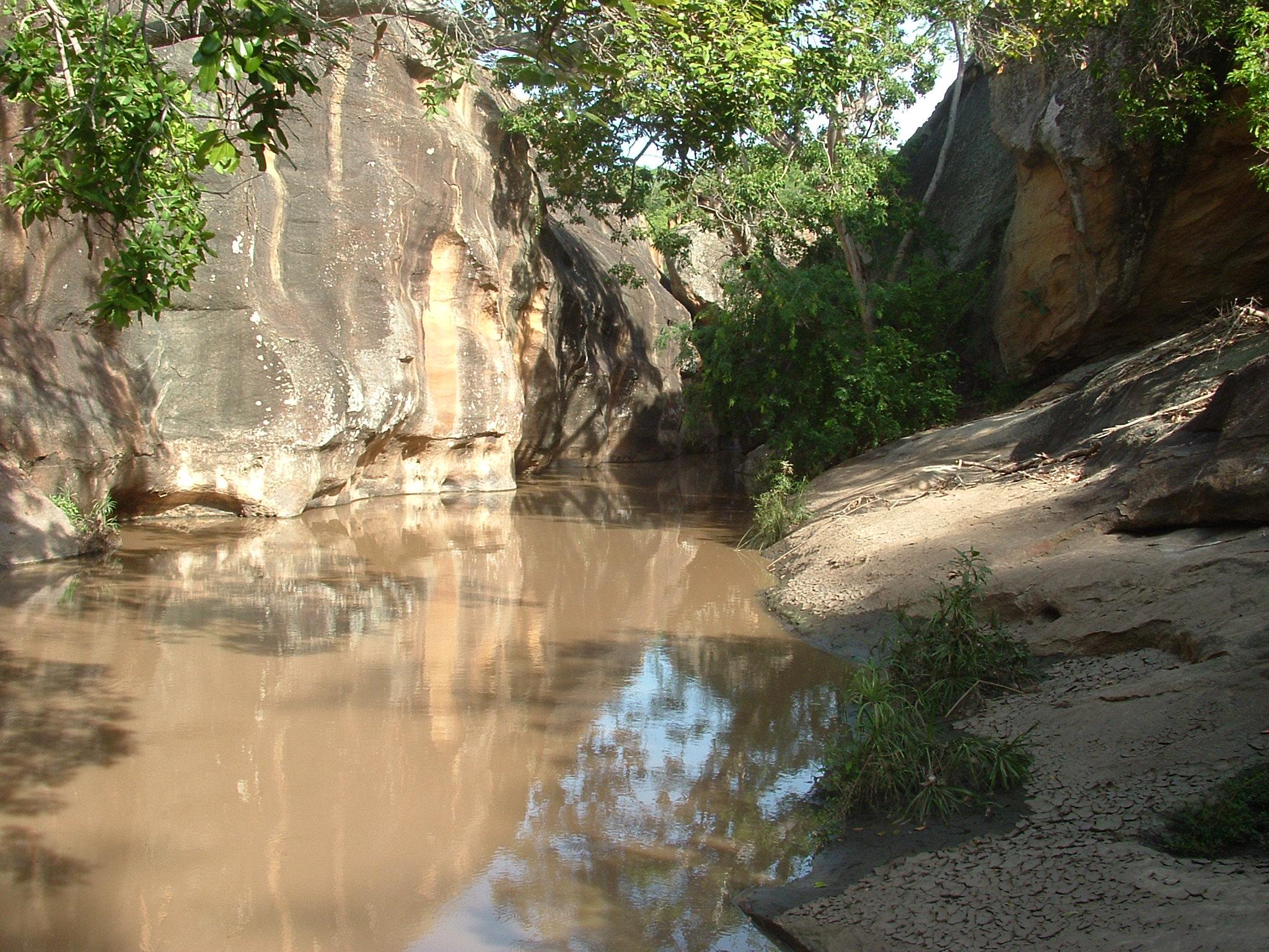Mwabvi Gorge in Mwabvi Wildlife Reserve Malawi