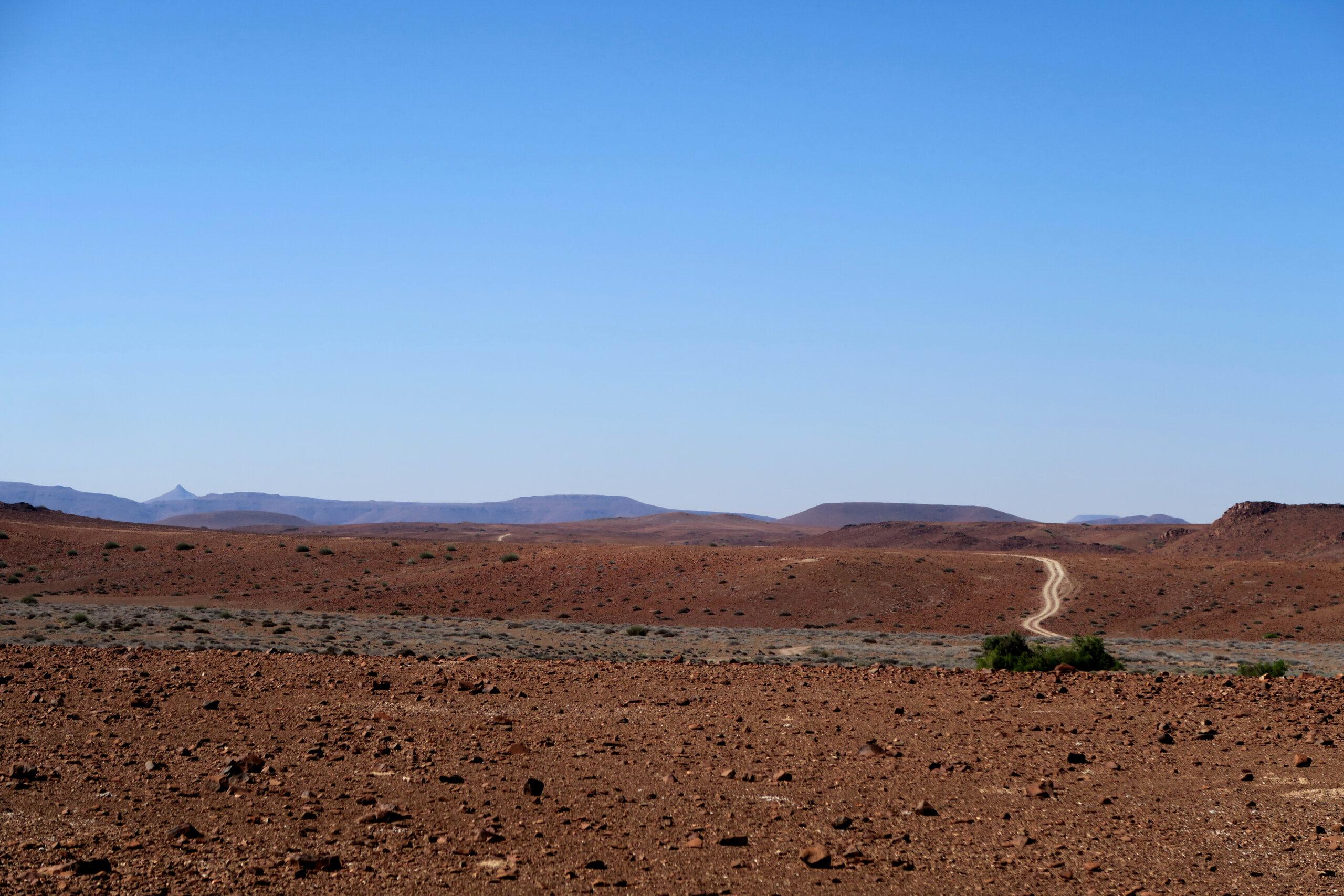 Op zoek naar de weg, Damaraland, Namibie 4x4