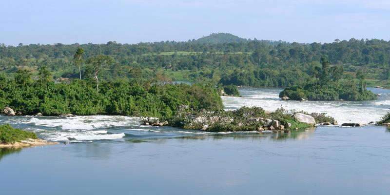 Overzicht Nijl bij Jinja Uganda