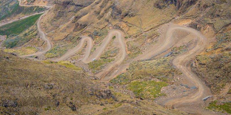 Sani Pass in Drakensbergen Zuid-Afrika