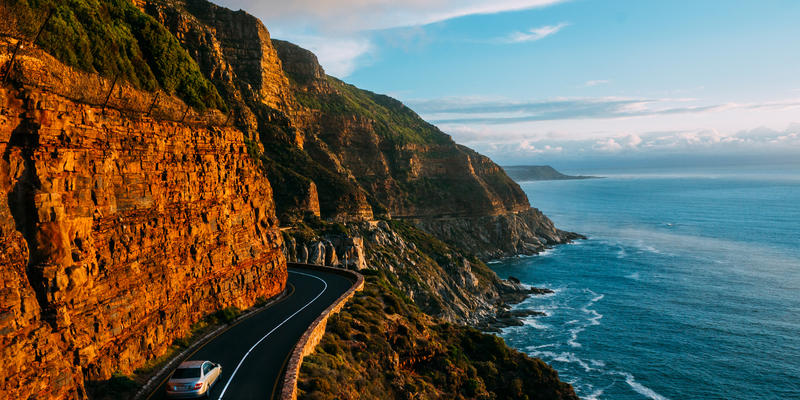 Chapman's Peak Drive bij Kaapstad Zuid-Afrika