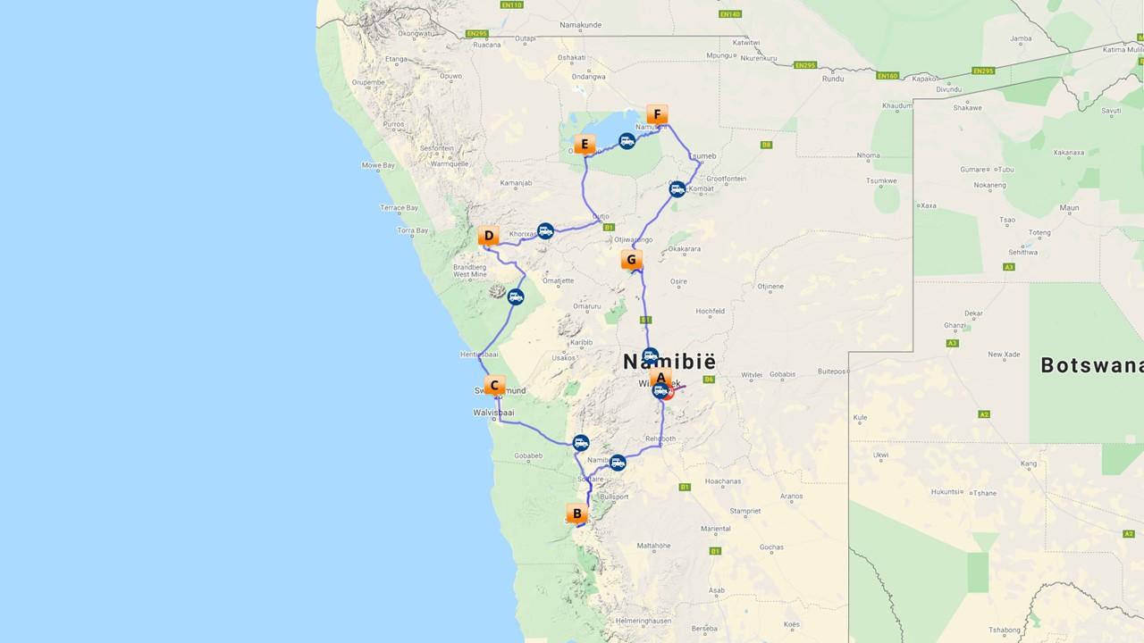 Klassieke rondreis Namibie - 13 dagen