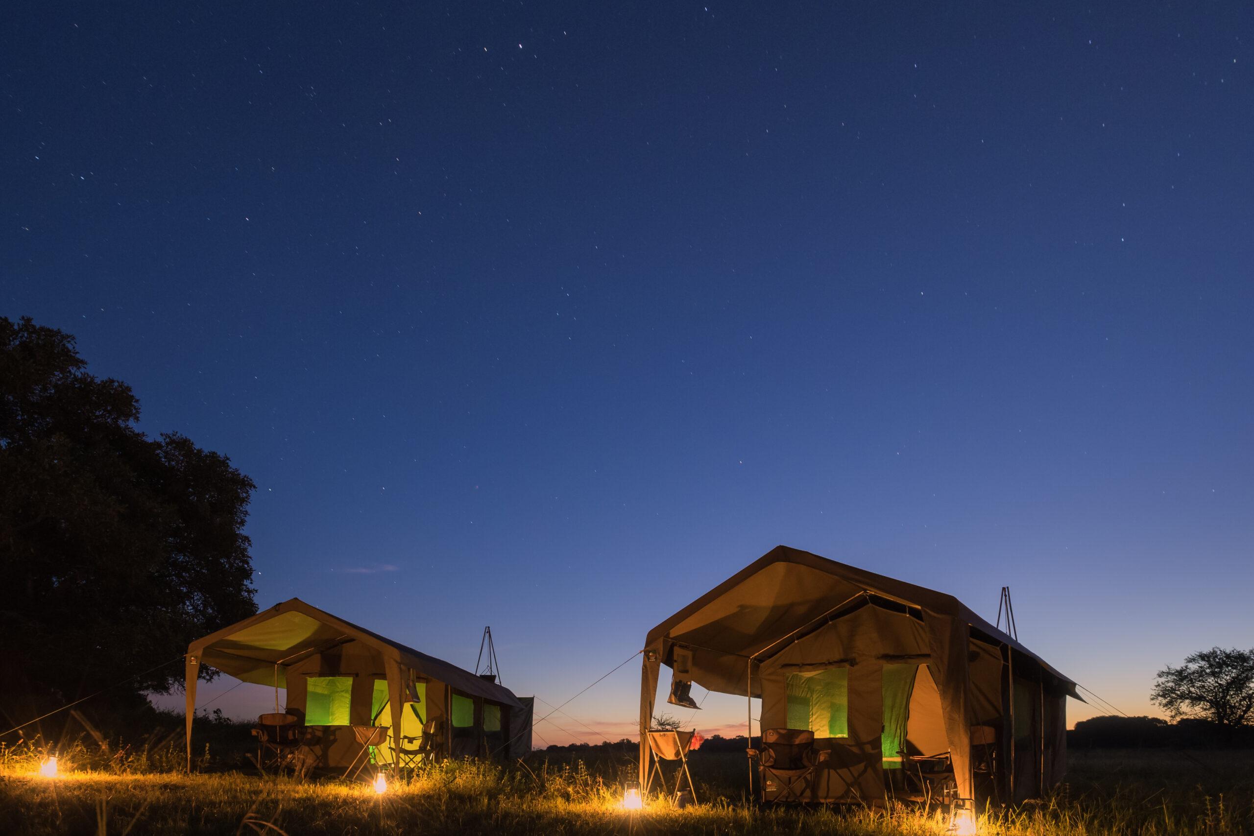 Luxe mobiel safarikamp Botswana