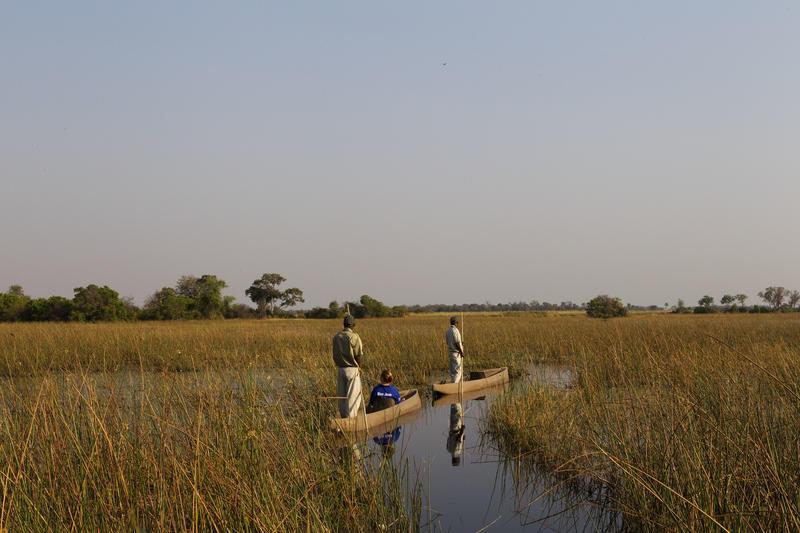 Mokoro tocht bij Kanana in Okavango Delta Botswana