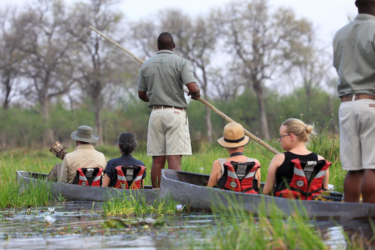 Mokoro tocht in Khwai Community Area Botswana