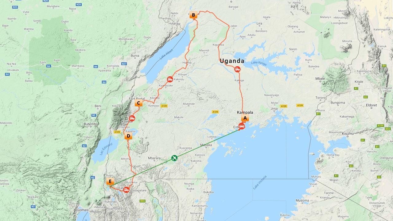 Rondreis Uganda hoogtepunten - 11 dagen