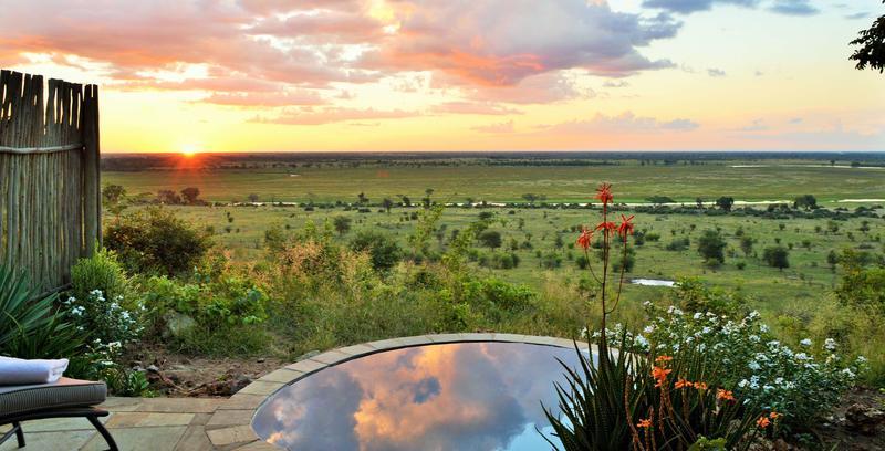 Uitzicht bij Ngoma Safari Lodge Botswana